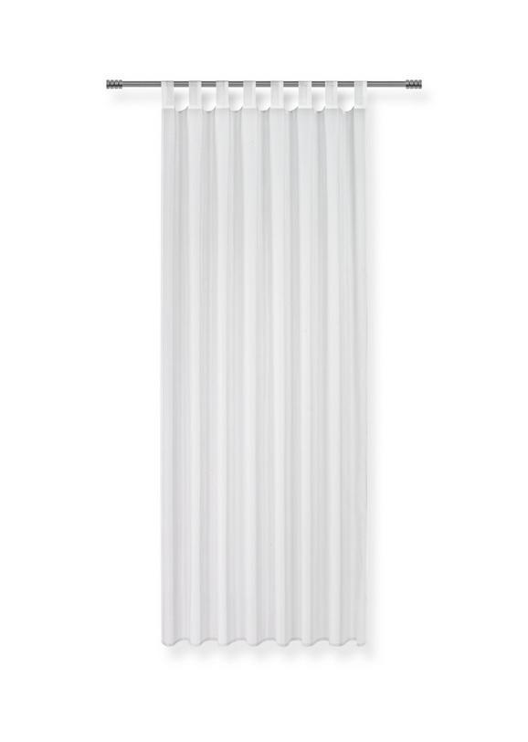 Schlaufenvorhang Hanna in Weiß, ca. 140x245cm - Weiß, Textil (140/245cm) - Based