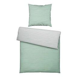 Bettwäsche Nadja Wende ca.135x200cm - Türkis/Silberfarben, Textil - Based