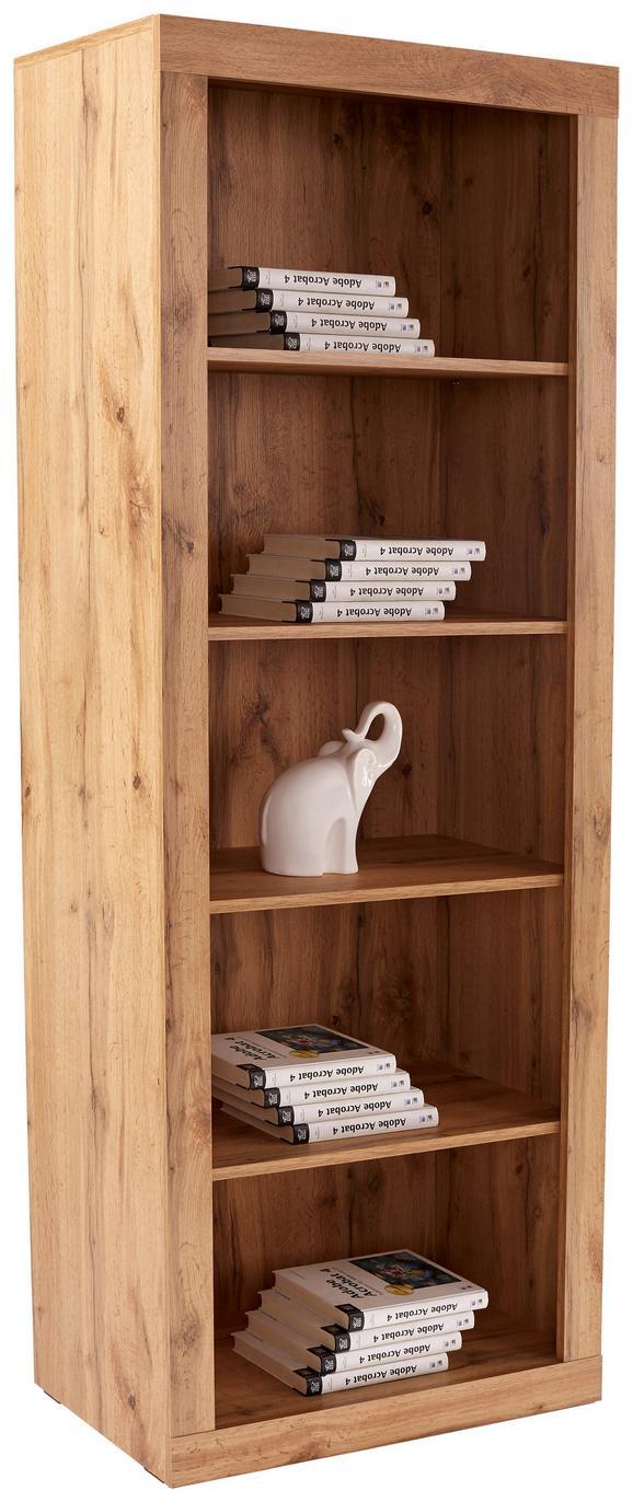 Regal Living - hrast, Moderno, leseni material (74/188/37cm) - Mömax modern living