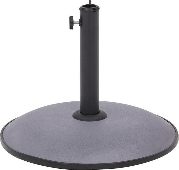 Sonnenschirmständer Riom in Anthrazit - Anthrazit, MODERN, Kunststoff/Stein (45/33cm) - Mömax modern living