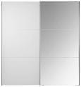 Omara Z Drsnimi Vrati Bianco - aluminij/bela, Konvencionalno, kovina/leseni material (200/216/68cm) - Premium Living