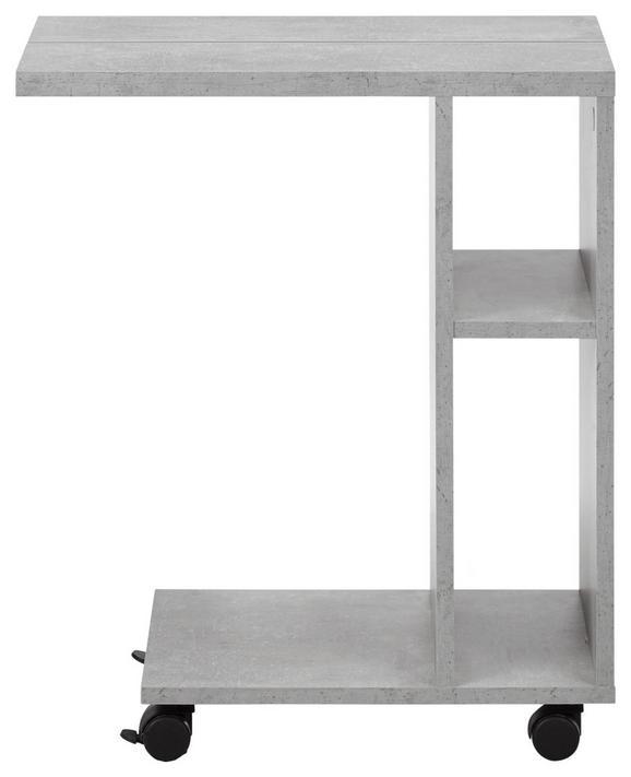 Beistelltisch in Schieferfarben - Schieferfarben, MODERN, Holzwerkstoff (50/60/30cm) - MÖMAX modern living