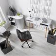 Schreibtischleuchte Harper - Schwarz/Weiß, MODERN, Metall (15/45cm) - Modern Living