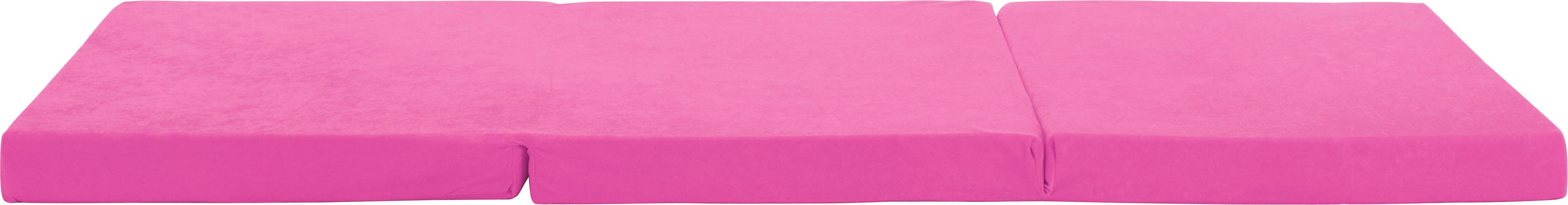 Zložljivo Ležišče Anna - roza, Moderno, tekstil (185/65/8cm)