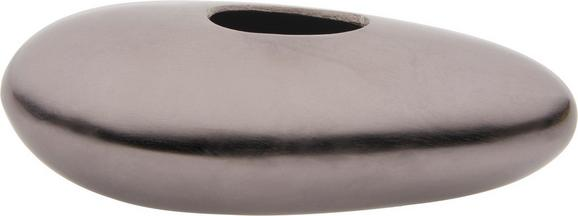Vase Asha in Schwarz/Nickel - Schwarz, LIFESTYLE, Metall (20/10/7cm) - MÖMAX modern living
