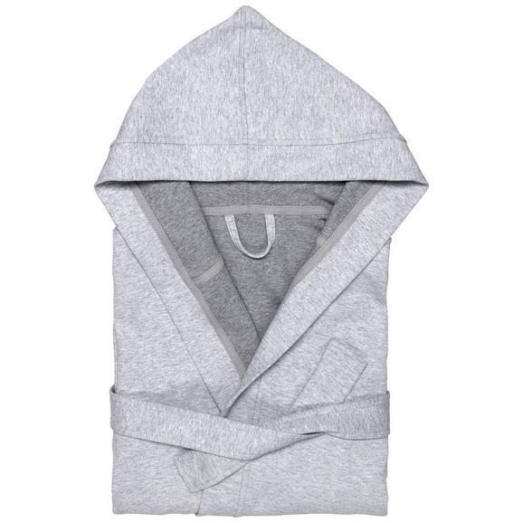Bademantel Jerry Grau M/L - Grau, Textil (M/Lnull) - Premium Living