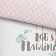 Bettwäsche Let's Flamingle 140x200cm - Rosa/Weiß, MODERN, Textil (140/200cm) - Mömax modern living