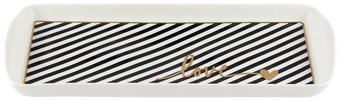 Servierplatte Gloria in Schwarz/Weiß - Goldfarben/Schwarz, MODERN, Keramik (27/13cm) - Mömax modern living