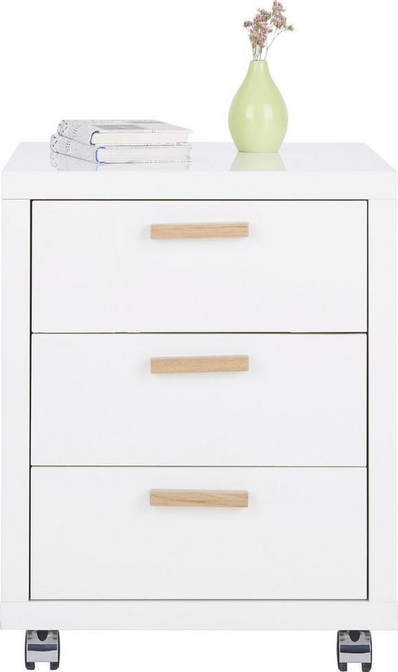 Rollcontainer Weiß - Eichefarben/Weiß, MODERN, Holz/Holzwerkstoff (49/62/52cm) - Premium Living