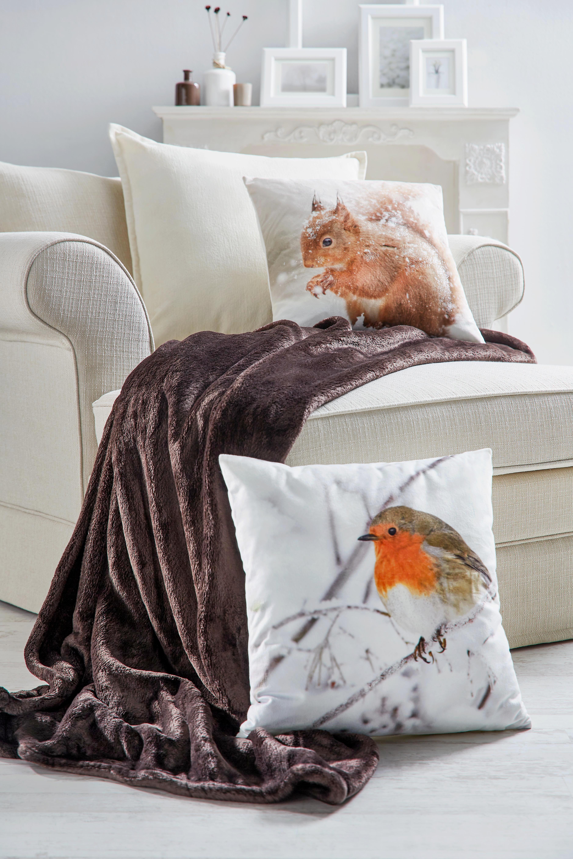Díszpárna Chenille Kord - fehér, konvencionális, textil (60/60cm) - MÖMAX modern living