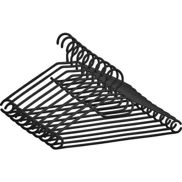 Set Obešalnikov Clara -based- - črna, umetna masa (40,8/20,5cm) - Based
