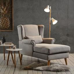 Fernsehsessel Otto - Hellgrau, MODERN, Holz/Textil (104/111/153cm) - Mömax modern living