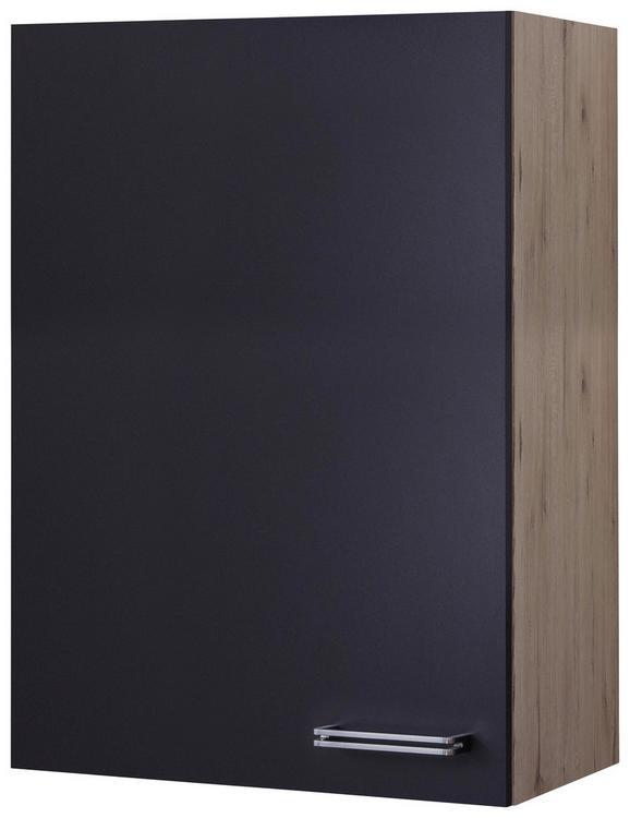 Kuhinjska zgornja omarica MILANO - hrast/antracit, Moderno, kovina/leseni material (60/89/32cm)