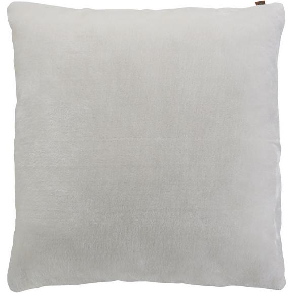 Kissen in Hellgrau 'Eliza' ca. 60x60cm - Hellgrau, MODERN, Textil (60/60cm) - Bessagi Home