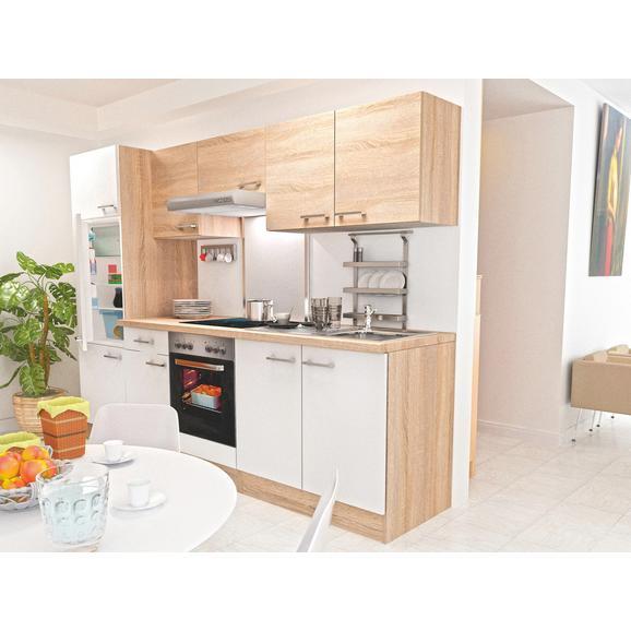 Kuhinjski Blok Samoa - bela/hrast, Konvencionalno, leseni material (270cm)