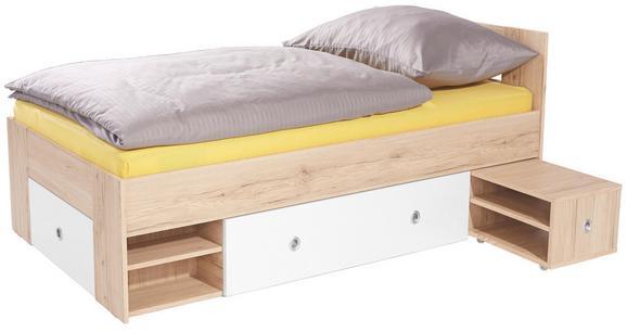 Postelja Azurro 90 - svetlo rjava/bela, Moderno, leseni material (204/75/95cm) - Mömax modern living