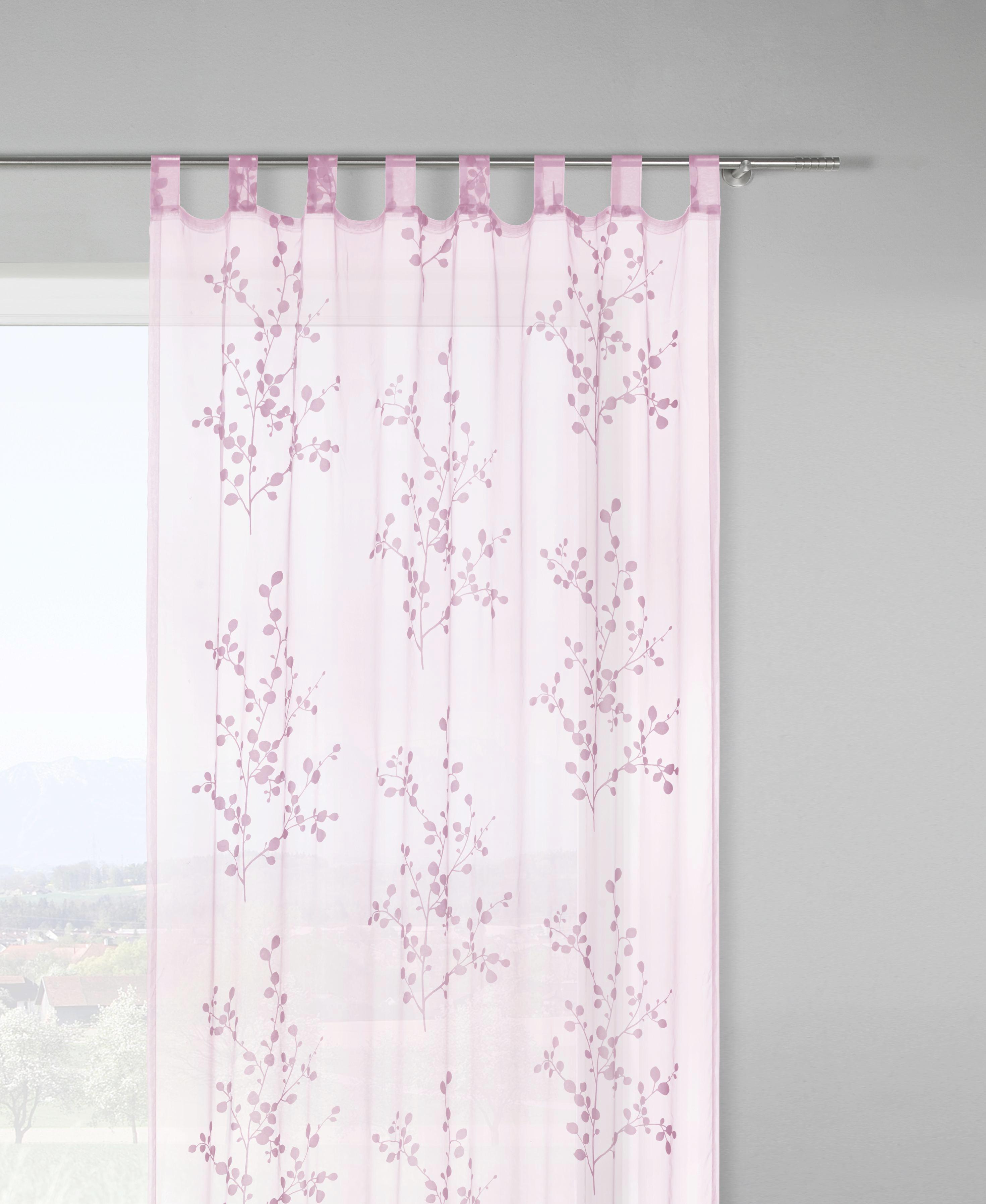 Schlaufenschal Christina, ca. 140x245cm - Rosa/Weiß, Textil (140/245cm) - MÖMAX modern living