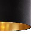 Stehleuchte Maddison - Goldfarben/Schwarz, MODERN, Textil/Metall (40/180/40cm) - Modern Living