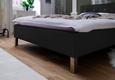Oblazinjena Postelja Cristallo -top- - črna/krom, Konvencionalno, tekstil (140/200cm) - Modern Living