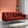 Schlafsofa Jara inkl. Kissen - Chromfarben/Rostfarben, MODERN, Holz/Textil (195/82/87cm) - Mömax modern living