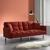 Sofa Jara mit Schlaffunktion inkl. Kissen - Chromfarben/Rostfarben, MODERN, Holz/Textil (195/82/87cm) - Mömax modern living