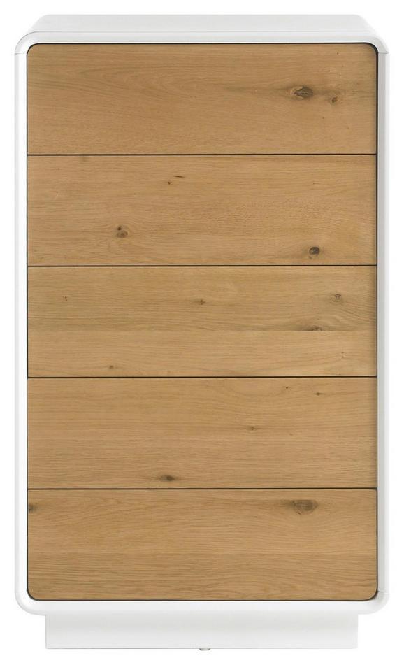Kommode Weiß/Eichefarben - Eichefarben/Weiß, MODERN, Holz/Holzwerkstoff (60/100/40cm) - Premium Living