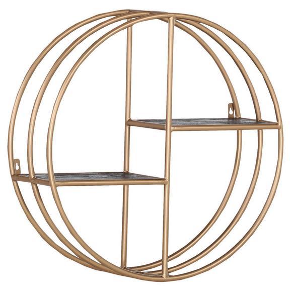 Wandregal in Goldfarben - Goldfarben, Design, Holz/Metall (70/70/24cm) - Premium Living