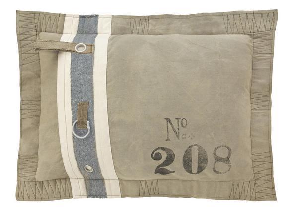 Kissen Zac 70x50cm - Grau, Textil (70/50cm) - Premium Living