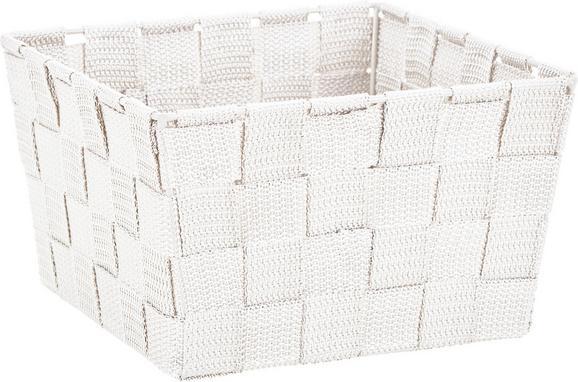 Korb Nelly Weiß - Weiß, MODERN, Textil (19/19/11cm) - Mömax modern living