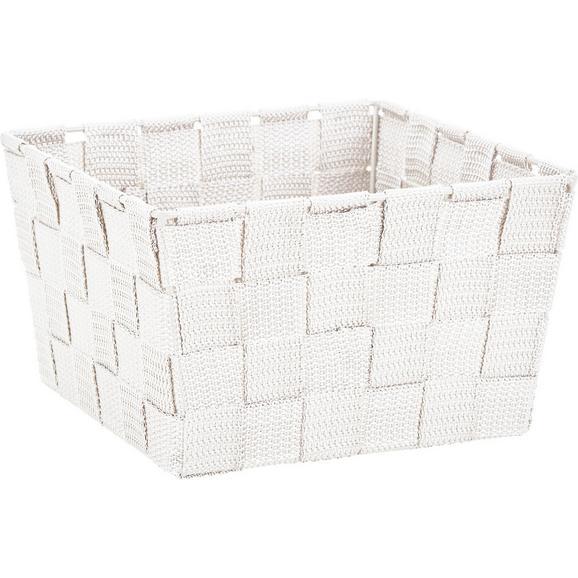 Košara Nelly - bela, Moderno, tekstil (19/19/11cm) - Mömax modern living