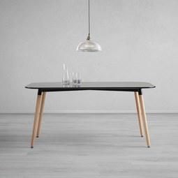 Tisch Anuk ca. 160x90 cm - Schwarz, MODERN, Holz/Holzwerkstoff (160/75/90cm) - Modern Living