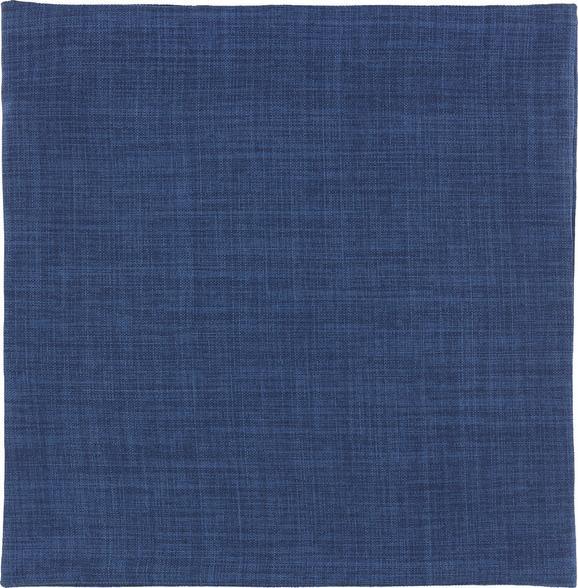 Kissenhülle Leinenoptik, ca. 50x50cm - Dunkelblau, Textil (50/50cm) - Mömax modern living