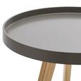 Couchtisch Jill Ø Ca,50cm - Grau/Pinienfarben, MODERN, Holz/Holzwerkstoff (50/50/50cm) - Modern Living