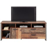 TV-Element Braun/dunkelgrau - Dunkelgrau/Schwarz, MODERN, Holzwerkstoff/Kunststoff (161/63,9/41,6cm) - Premium Living
