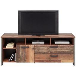 TV-Element in Braun - Dunkelgrau/Schwarz, MODERN, Holzwerkstoff/Kunststoff (161/63,9/41,6cm) - Premium Living