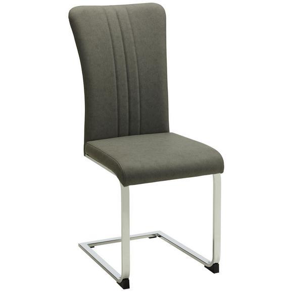 Nihajni Stol Sergio - siva/krom, Moderno, kovina/tekstil (43/102/59,5cm) - Mömax modern living