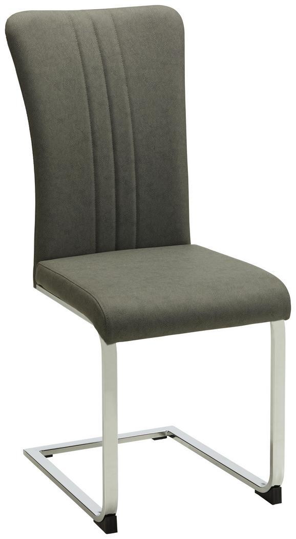 Schwingstuhl Grau - Chromfarben/Grau, MODERN, Textil/Metall (43/102/59,5cm) - Mömax modern living
