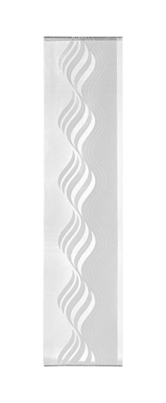 Flächenvorhang Paula in Weiß, ca. 60x245cm - Weiß, ROMANTIK / LANDHAUS, Textil (60/245cm) - Mömax modern living