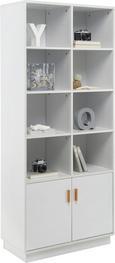 Regal Claire - Weiß, MODERN, Holz (80/188/39cm) - Mömax modern living