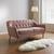 Sofa Anela 2,5 Sitzer - Rosa, MODERN, Holz/Textil (168/79/84cm) - Bessagi Home