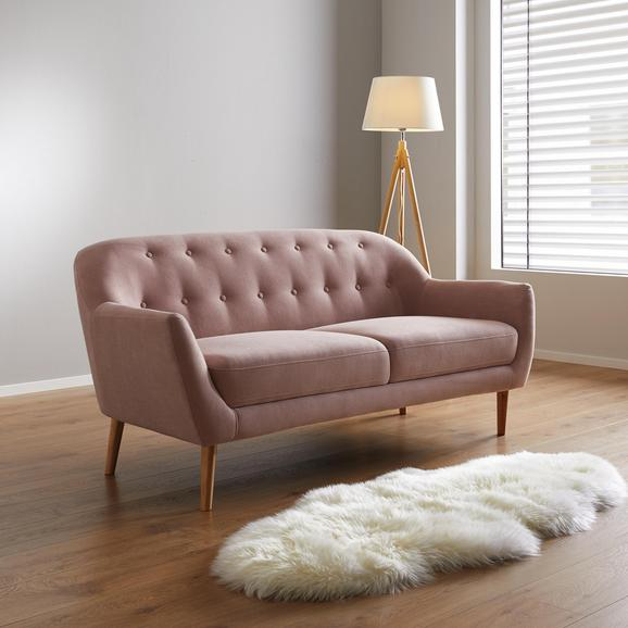 Sofa Anela 2,5 Sitzer - Rosa, MODERN, Holz/Textil (168/79/84cm) - Modern Living