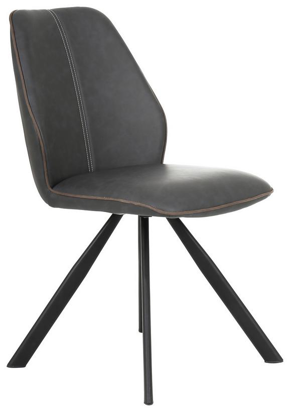 Stuhl Braun/Schwarz - Schwarz/Braun, MODERN, Textil/Metall (45/88/61cm) - Mömax modern living