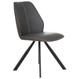 Stuhl in Schwarz - Schwarz/Braun, MODERN, Textil/Metall (44/88/62cm) - Mömax modern living