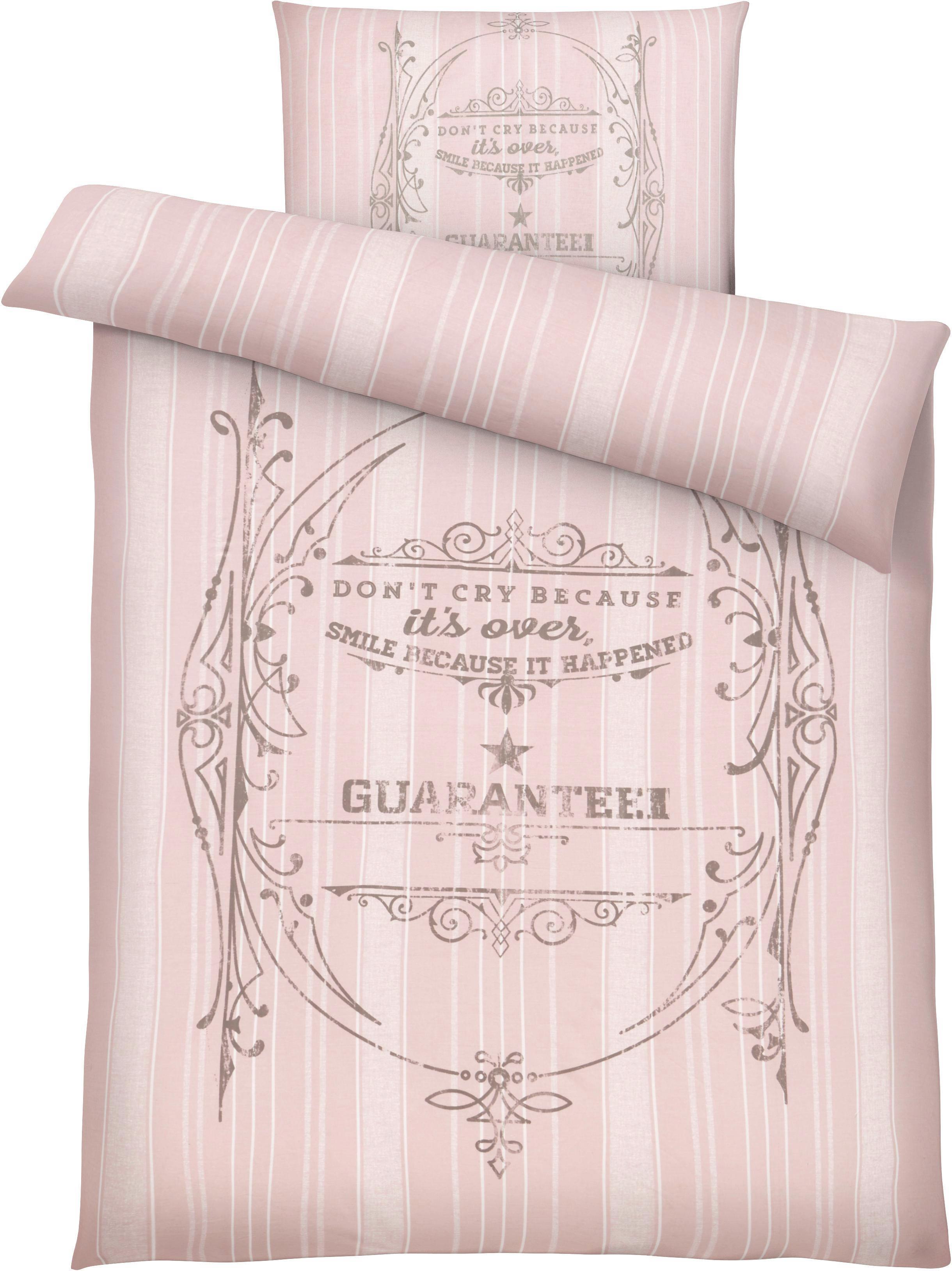 Bettwäsche Elise, ca. 135x200cm - Rosa, ROMANTIK / LANDHAUS, Textil (135/200cm) - MÖMAX modern living