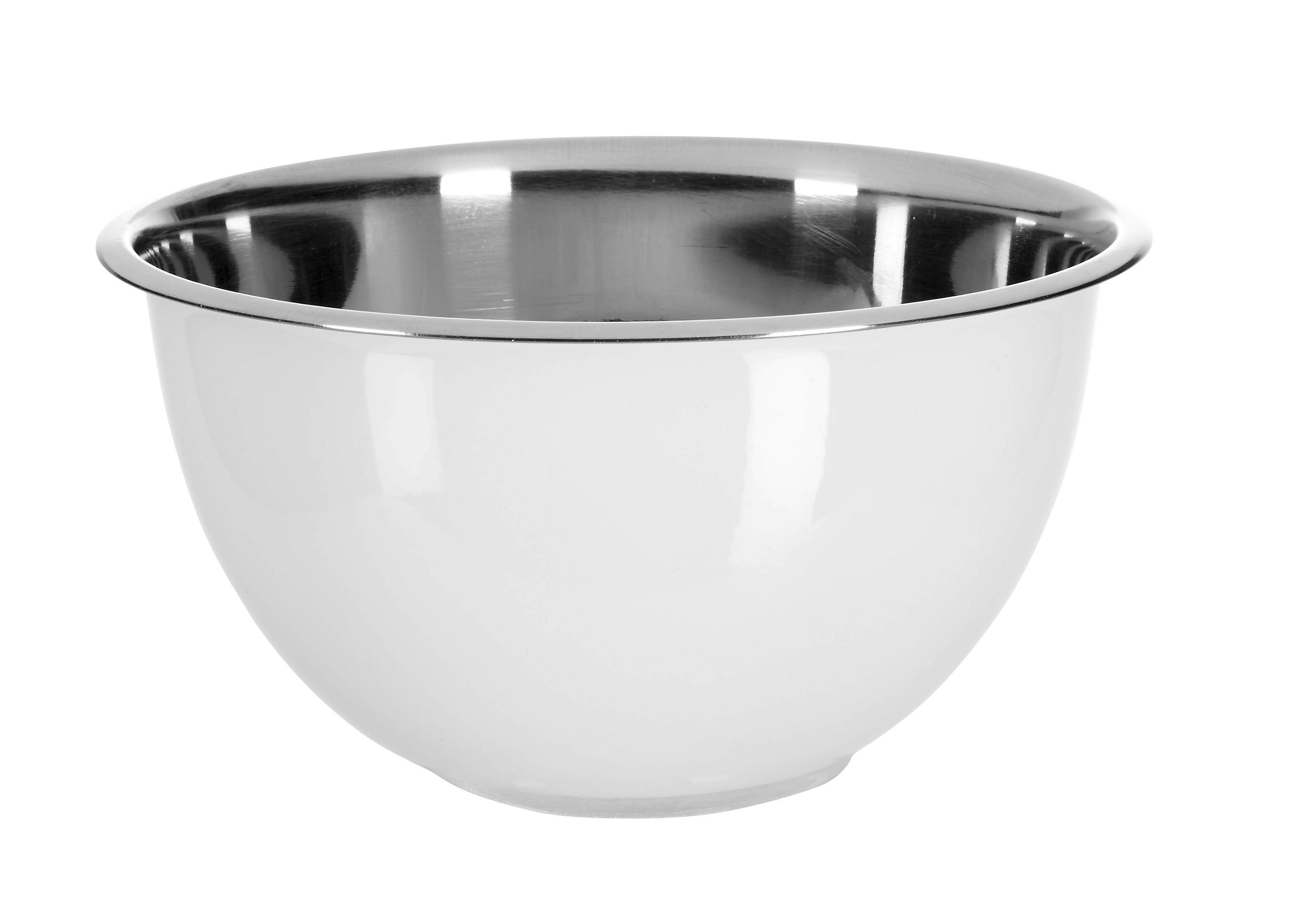 Schüssel Dani in Weiß, Ø ca. 18cm - Edelstahlfarben/Weiß, Metall (18/9,5cm) - MÖMAX modern living