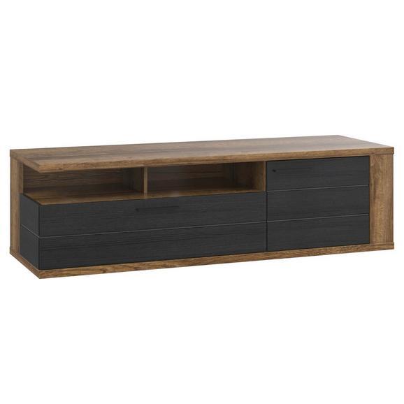 Tv-element Lacjum - črna/hrast, Moderno, kovina/umetna masa (161,5/46,7/52,3cm) - Mömax modern living