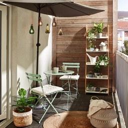 Balkonset Nice in Grün - Grün, Metall - Mömax modern living