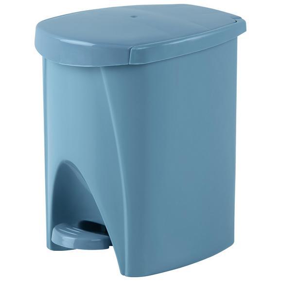 Treteimer Silke Blau - Grau, KONVENTIONELL, Kunststoff (6l)