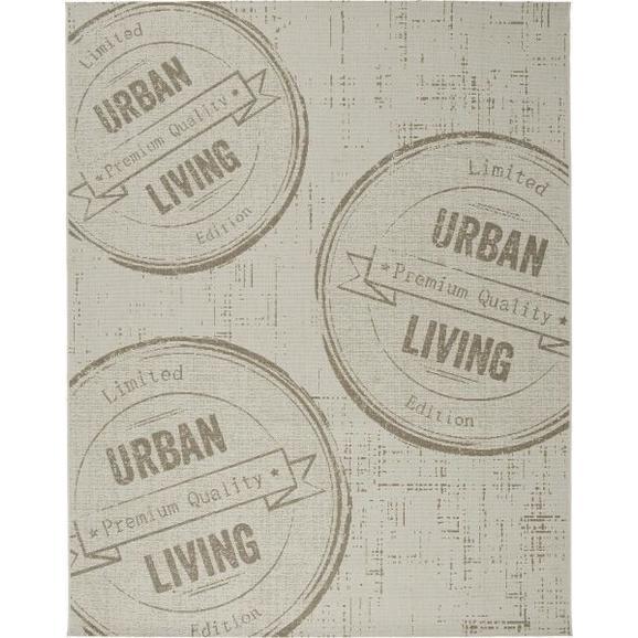 Flachwebeteppich Urban Living ca.120x170cm - Naturfarben, LIFESTYLE, Textil (120/170cm) - Boxxx