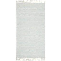 Handwebeteppich Mary Türkis, ca. 60x120cm - Türkis, ROMANTIK / LANDHAUS, Textil (60/120cm) - Mömax modern living
